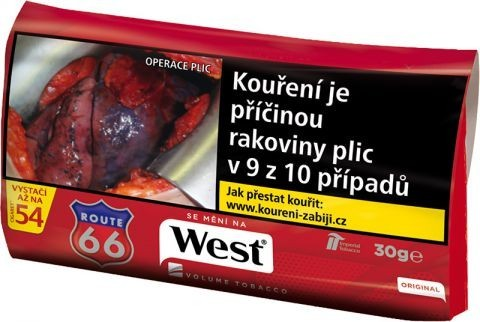 TABAK WEST RED 30g.     111T