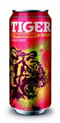 TIGER ENERGY DRINK STRAWBERY 0 č.1